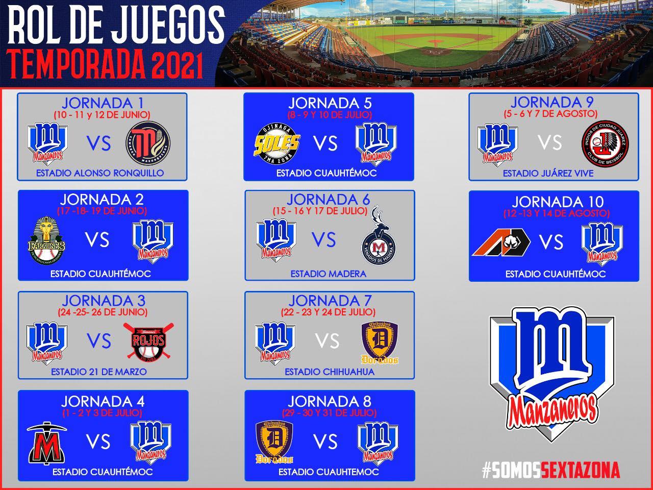 rol-calendario-juegos-campeonato-beisbol-chihuahua-2021-manzaneros-cuauhtemoc-definitivo
