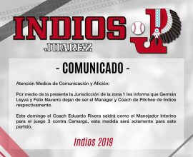 indios despide manager german leyva 2019