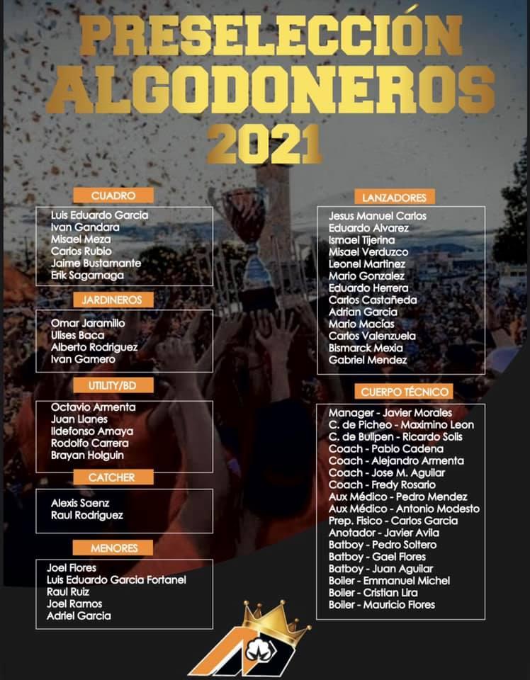 preseleccion-temporada-2021-campeonato-estatal-besibol-chihuahua-algodoneros-delicias