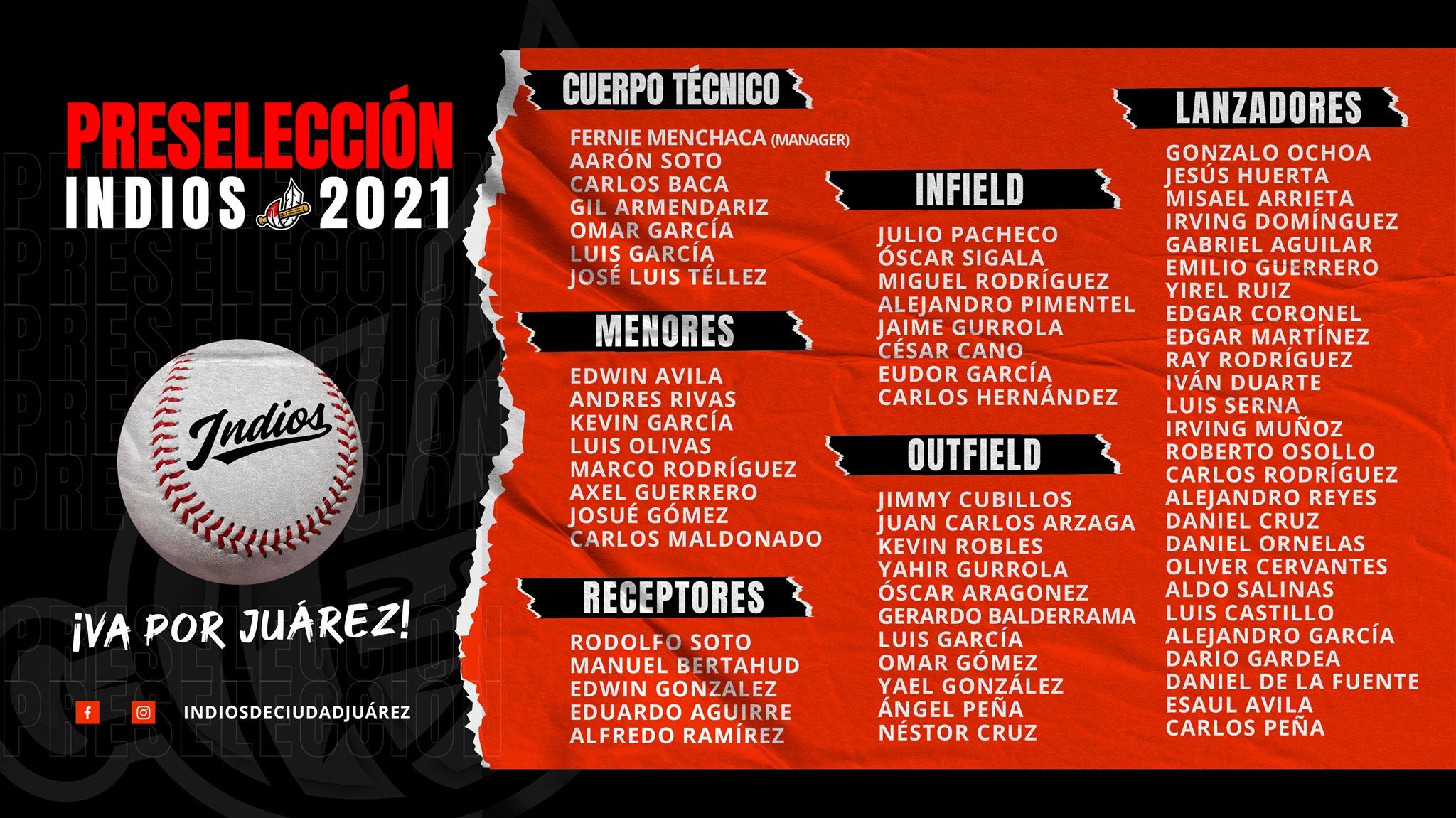preseleccion-temporada-2021-campeonato-estatal-besibol-chihuahua-indios-juarez
