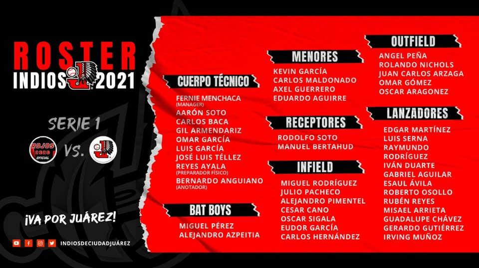 roster-temporada-2021-campeonato-estatal-besibol-chihuahua-indios-juarez