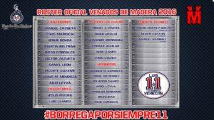 2016 roster seleccion venados de madera