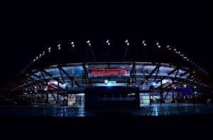 estadio juarez de noche