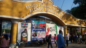 entrada puerta estadio alonso ronquillo camargo mazorqueros 2017