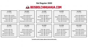 Campeonato Estatal de Beisbol de Chihuahua 2020 inicia el 14 de mayo.